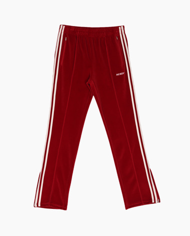 [T-Shirt 증정] Velour Track Pants Burgundy