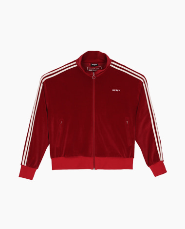 [LIMITED] Velour Track Top Burgundy