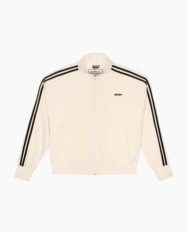 [LIMITED] Velour Track Top White