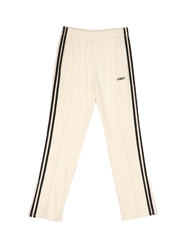 [LIMITED] Velour Track Pants White