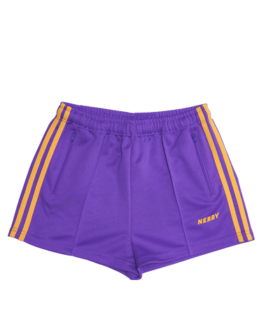 [WOMAN] NY Track Shorts Purple / Yellow