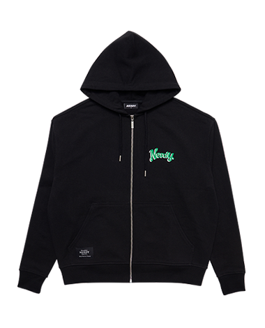 Hooded Zip-up Black
