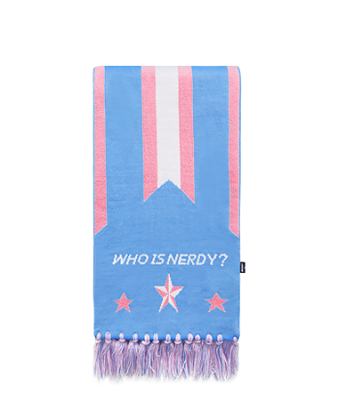Multi Color Logo Scarf Skyblue
