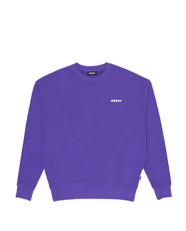 Basic Logo Sweatshirt Purple