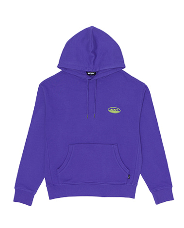Oval Logo Pullover Hoodie Purple