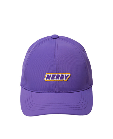 Rubber Logo Ball Cap Purple