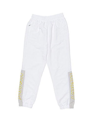Color Block Woven Track Pants White