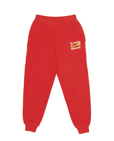 Glitter Print Sweatpants Red