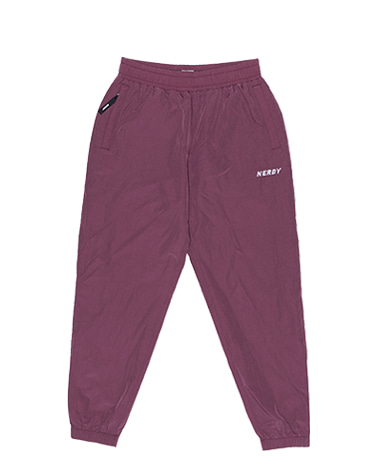 Wrinkle Windbreaker Pants Burgundy