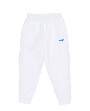 Wrinkle Windbreaker Pants White