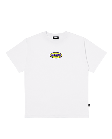 Bubble 1/2 Sleeve T-shirt White