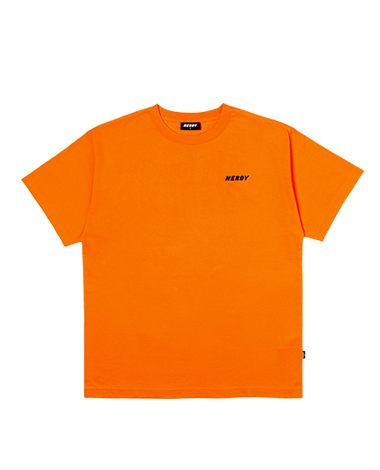 Wave 1/2 Sleeve T-shirt Orange