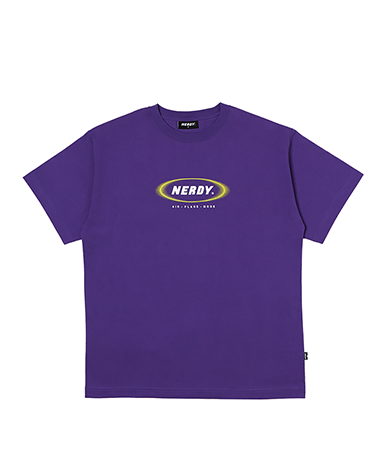 [사전예약] Blurred Logo 1/2 Sleeve T-shirt Purple