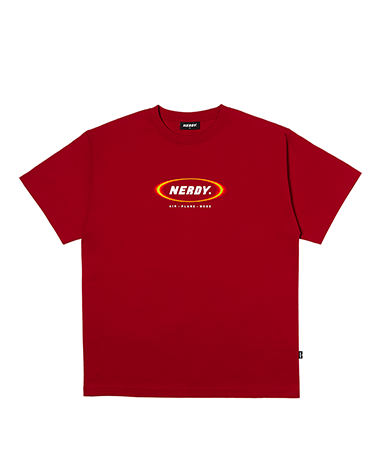 Blurred Logo 1/2 Sleeve T-shirt Red