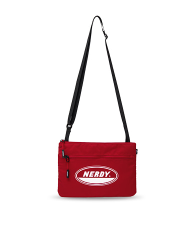 Oval Logo Sacoche Bag Red