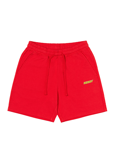 Logo Half Pants Red