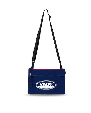 Oval Logo Sacoche Bag Navy