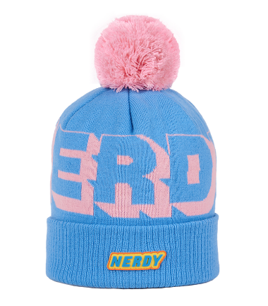 Multi Color Logo Ball Beanie Skyblue