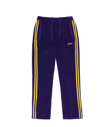Corduroy Velvet Track Pants Purple