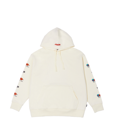 Character Overfit Pullover Hoodie Cream