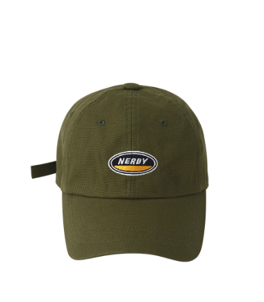 Oval Logo Ball Cap Khaki