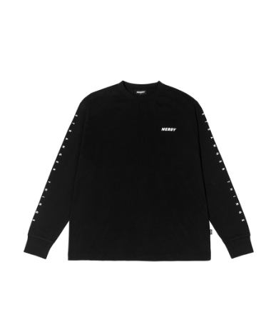 Balloon Long Sleeve T-shirt Black