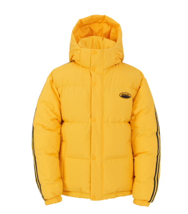 Color Block Reversible Down Jacket Yellow