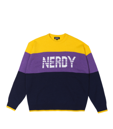 Color Block Sweater Purple