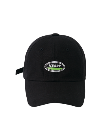 Oval Logo Ball Cap Black