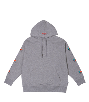Character Overfit Pullover Hoodie Gray