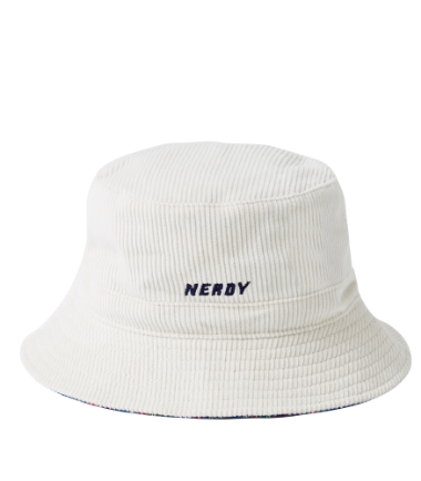 Corduroy Reversible Bucket Hat Cream