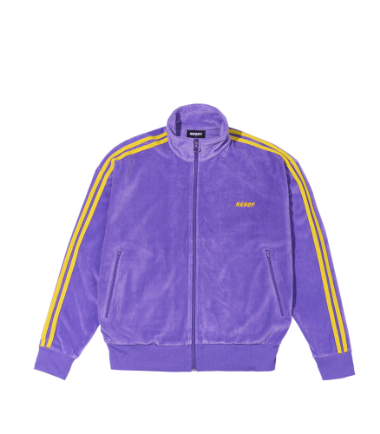 Velour Track Top Purple
