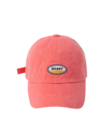 Oval Logo Ball Cap Coral