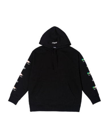Character Overfit Pullover Hoodie Black