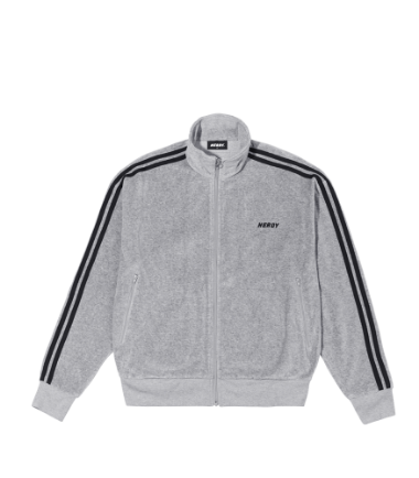 Velour Track Top Gray