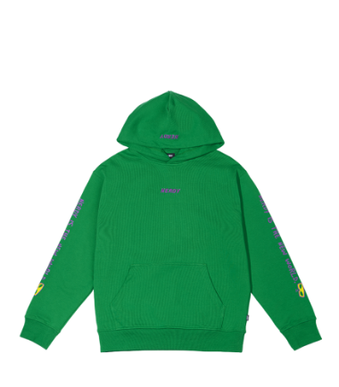 Lettering Pullover Hoodie Green