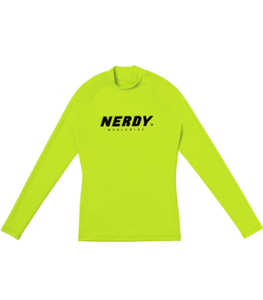 Women's Basic Logo RashguardWhite / Lime / Black