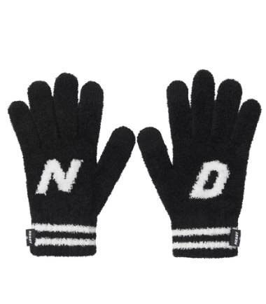 Initial Gloves Black