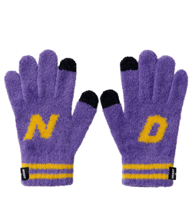 Initial Gloves Purple