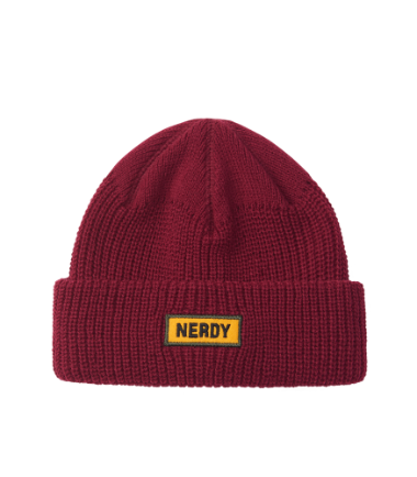 Basic Embo Beanie Burgundy