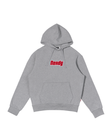Boucle Pullover Hoodie Gray