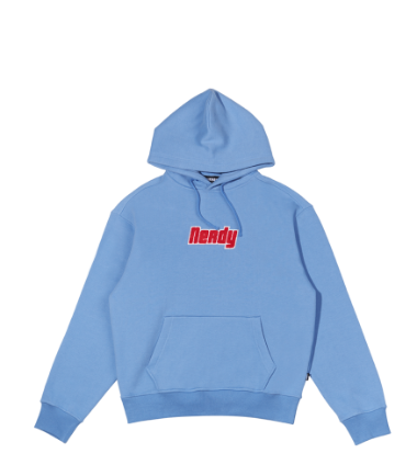 Boucle Pullover Hoodie Sky Blue
